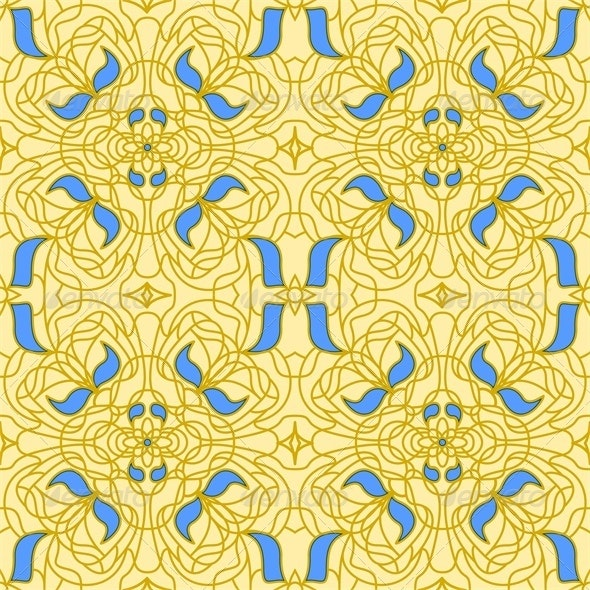 Seamless Pattern Art Nouveau - Patterns Decorative