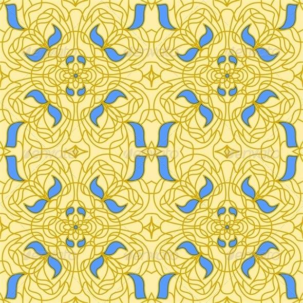 Seamless Pattern Art Nouveau