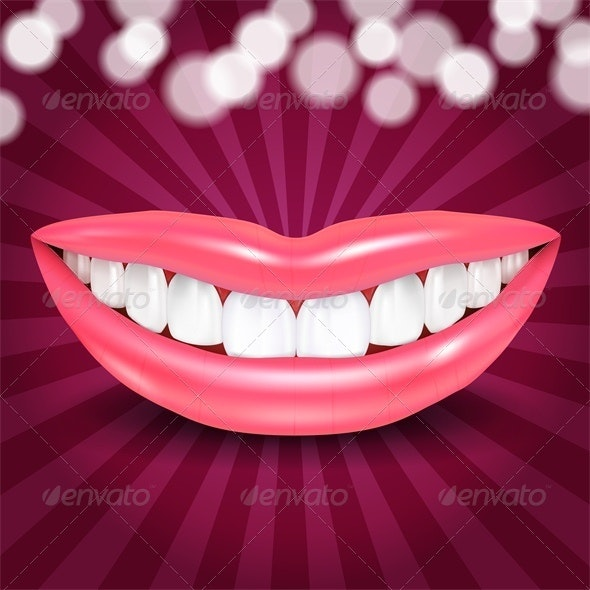 Vector Disco Lips - Miscellaneous Characters