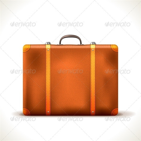 Vector Suitcase - Man-made Objects Objects