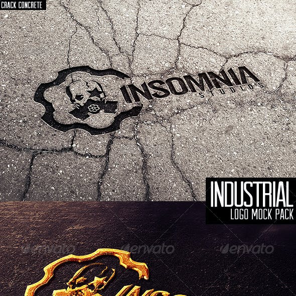 Industrial Photorealistic Logo Mock-Up