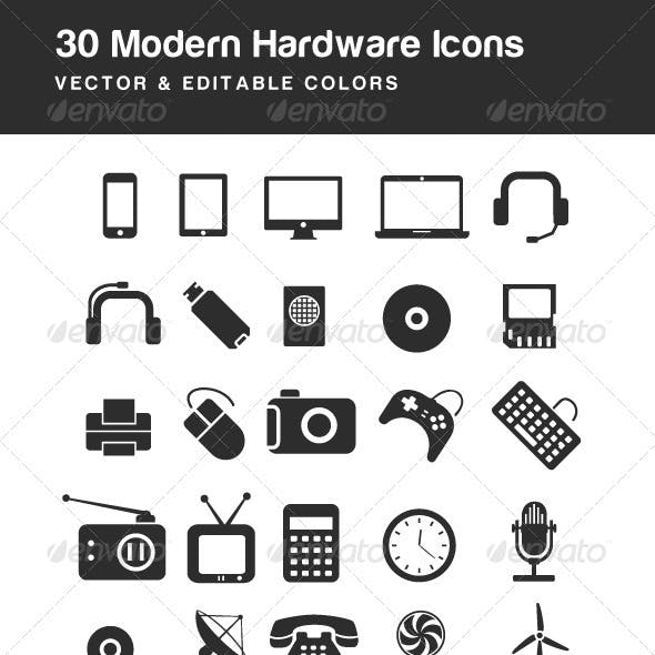 Modern Electric Hardware Icons