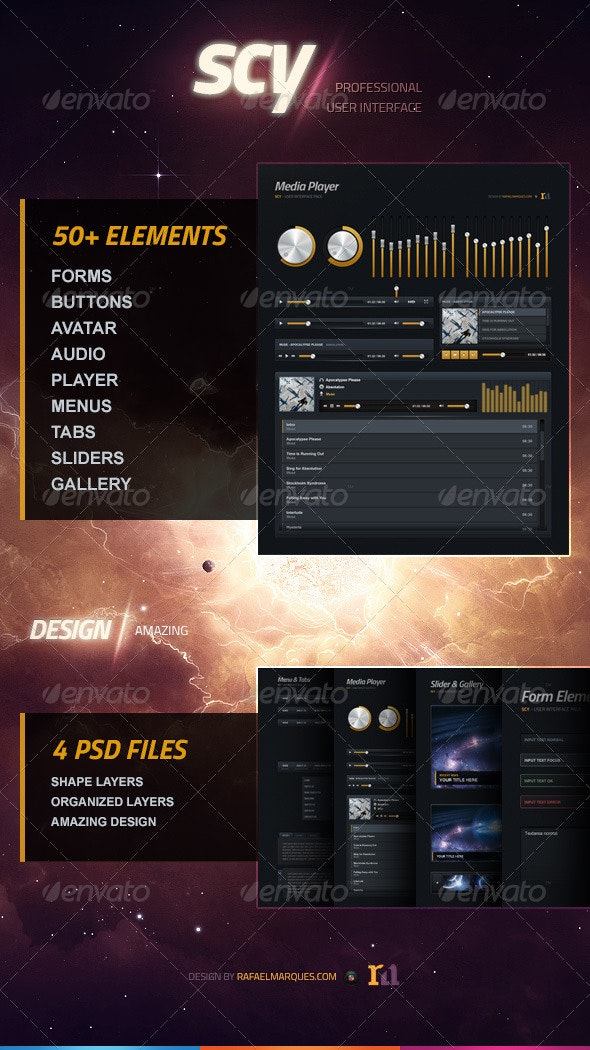 Scy - Professional UI Kit - User Interfaces Web Elements