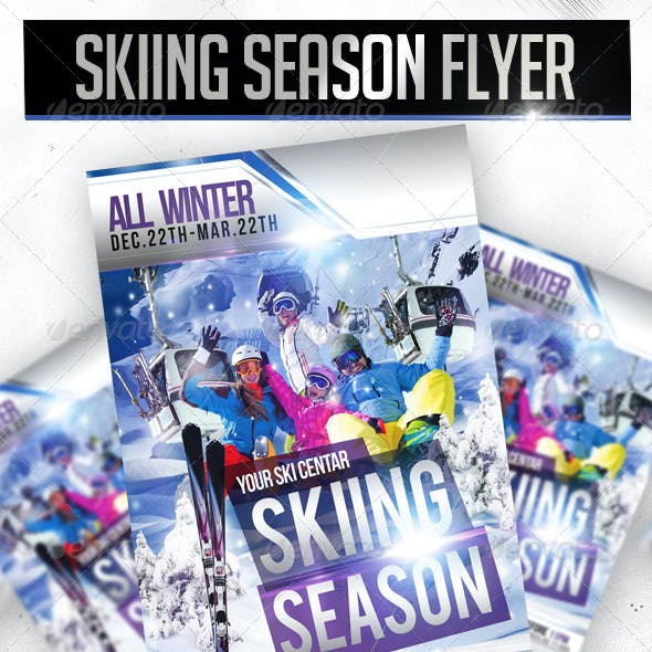 Skiing Season Flyer Template