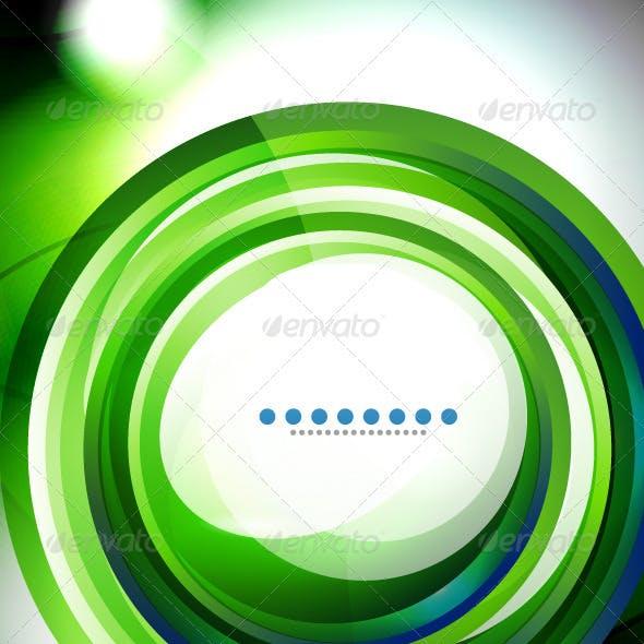 Vector Creative Green Swirl Background