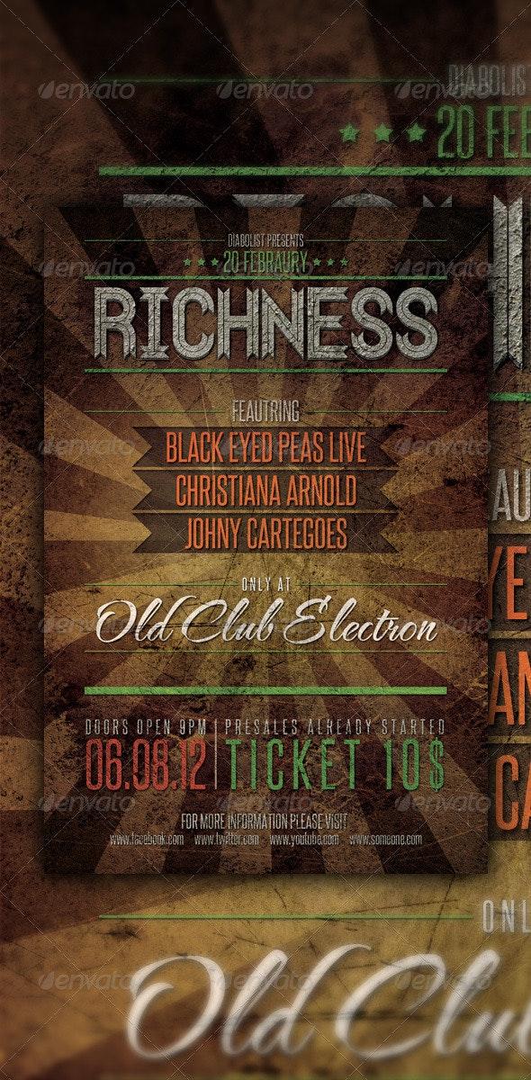 Grunge Flyer Design - Clubs & Parties Events