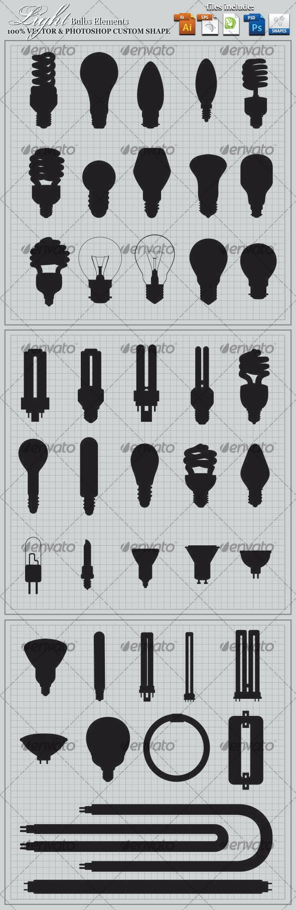 Light Bulbs Elements - Man-made Objects Objects