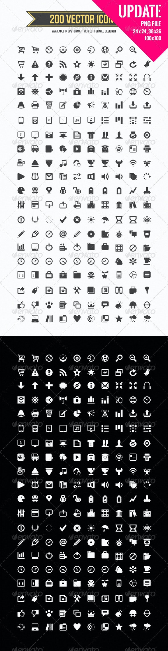 200 Vector Icons - Web Icons