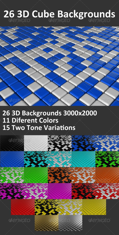 Cube 3D Backgrounds - Backgrounds Graphics