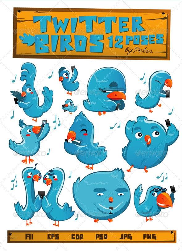 Twitter Birds - Characters Vectors