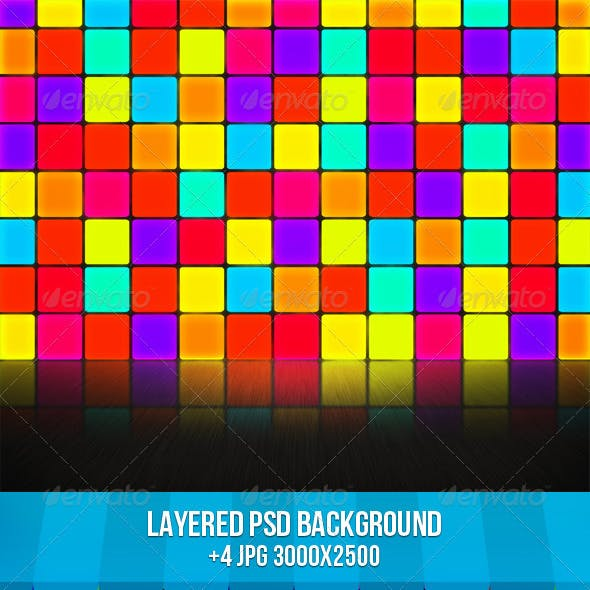 Disco Wall Stage Background