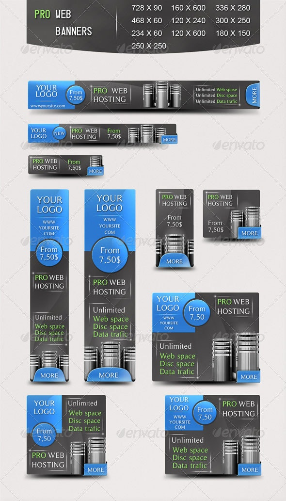 Pro Web Banners - Banners & Ads Web Elements