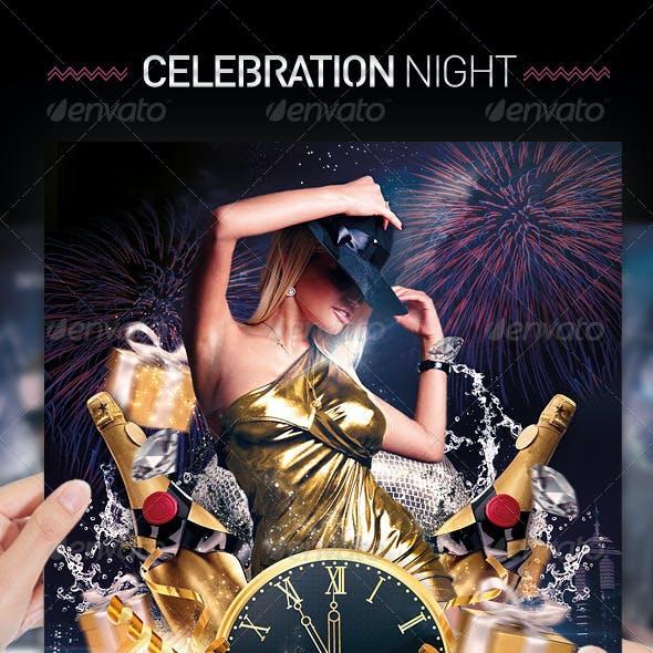 Birthday & Midnight Celebration Party Flyer