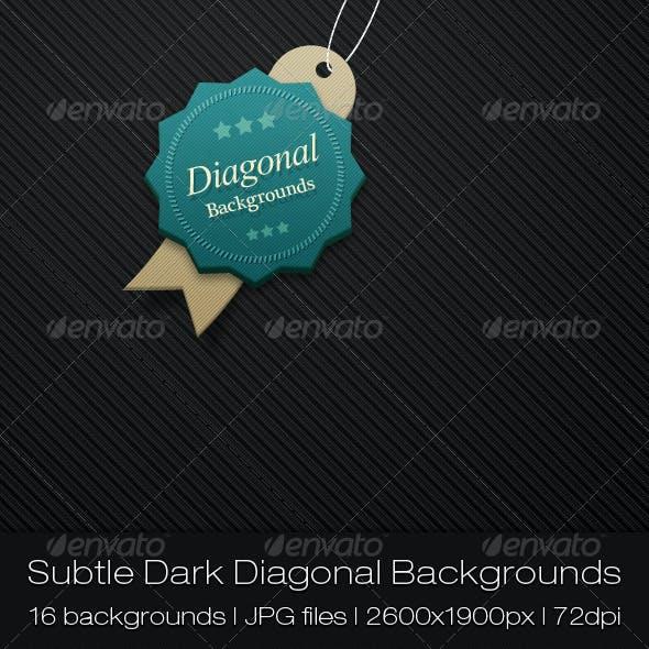 Subtle Dark Diagonal Backgrounds