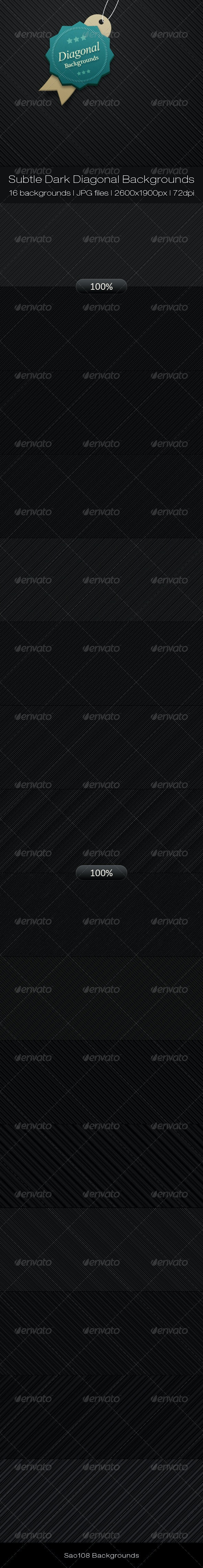 Subtle Dark Diagonal Backgrounds by Sao108 | GraphicRiver