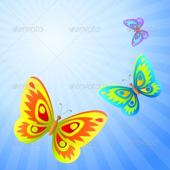 Butterflies in the sky - Patterns Decorative