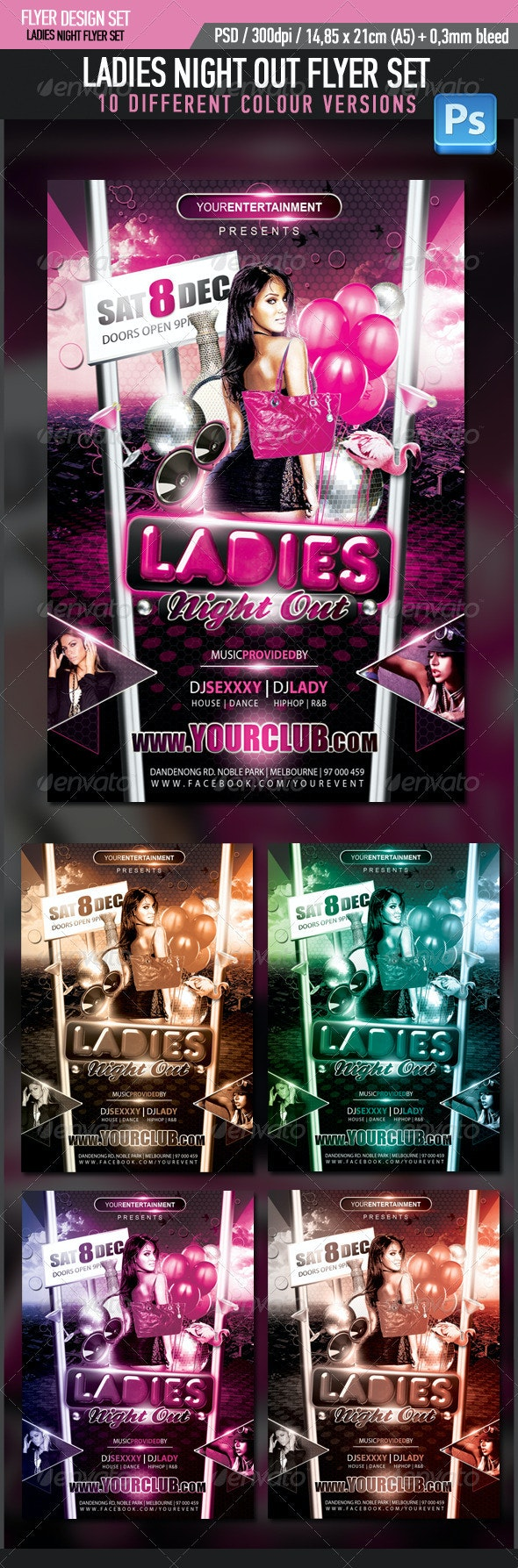 Ladies Night Out Flyer - Clubs & Parties Events
