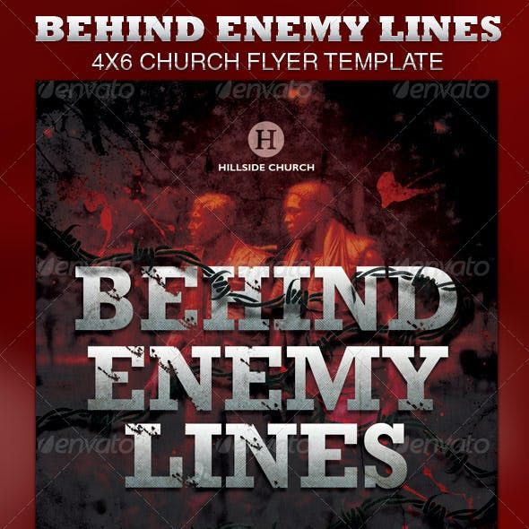 Behind Enemy Lines Church Flyer Template