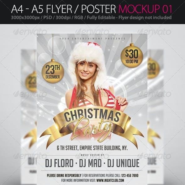 A4 - A5 Flyer / Poster Mockup