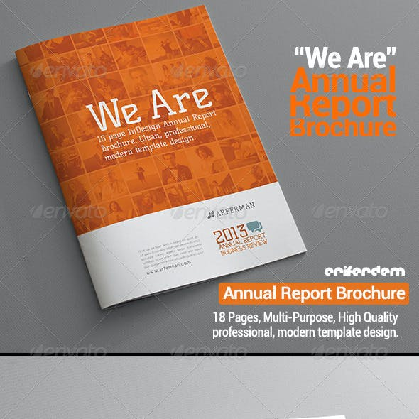 "Annual Report Brochure ""We Are"""