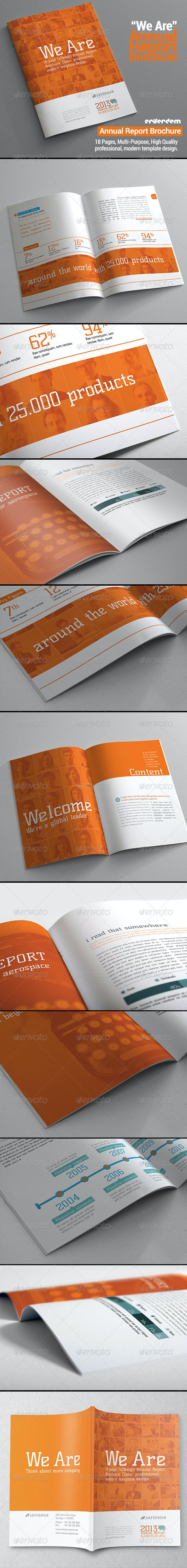 "Annual Report Brochure ""We Are"" - Corporate Brochures"