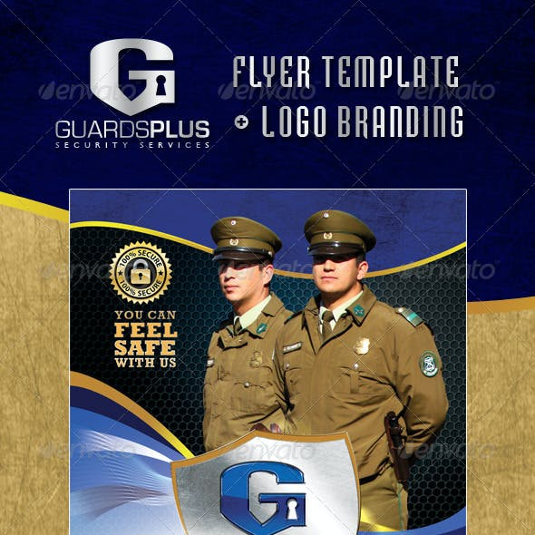 GuardsPlus Logo and Flyer Template