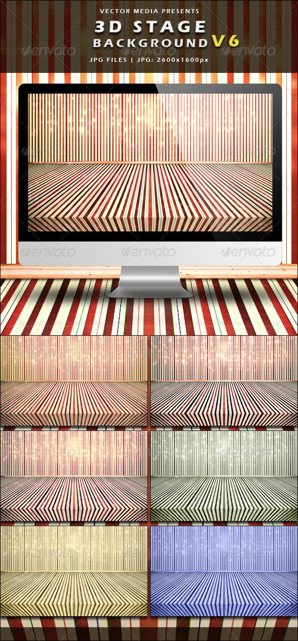 3D Stage Background - Vol.6 - 3D Backgrounds