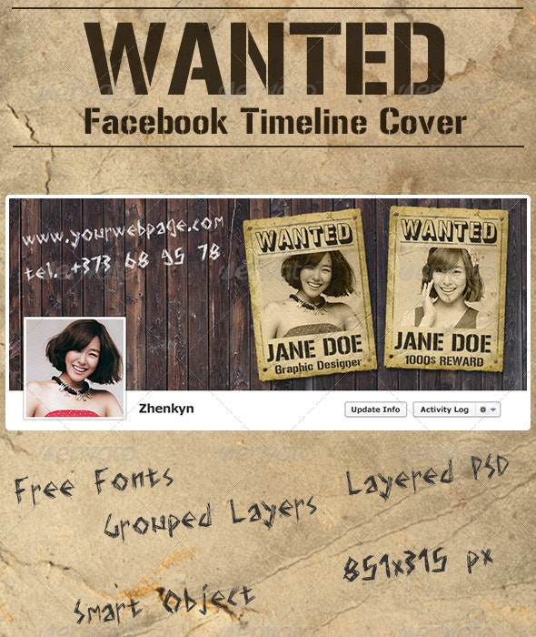 Wanted FB Timeline Cover - Facebook Timeline Covers Social Media