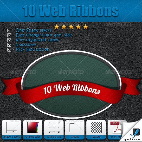 10 Web Ribbons