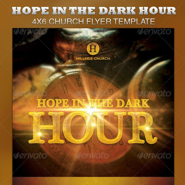 Hope in the Dark Hour Church Flyer Template