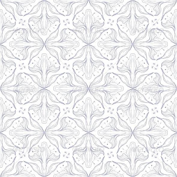 vintage vector floral pattern design - Patterns Decorative