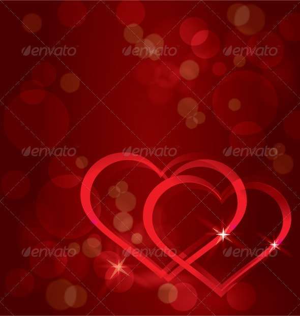 Sparkling hearts background vector - Backgrounds Decorative