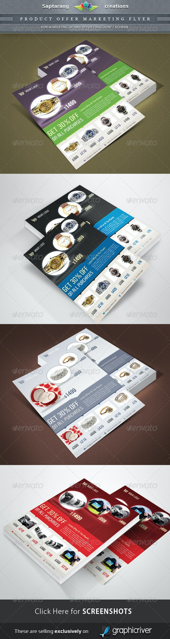 Product Offer marketing Flyer - Commerce Flyers