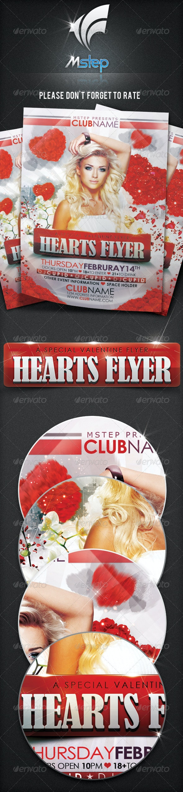 Hearts Flyer - Clubs & Parties Events