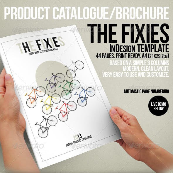 The Fixies-Product Catalogue InDesign template