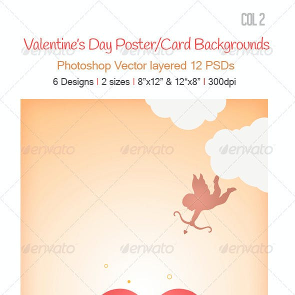 Valentine's Day Backgrounds col 2