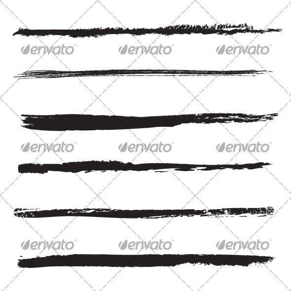 Set of brushstrokes