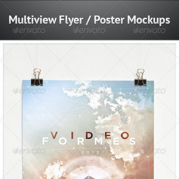 Multiview Flyer/Poster Mockups