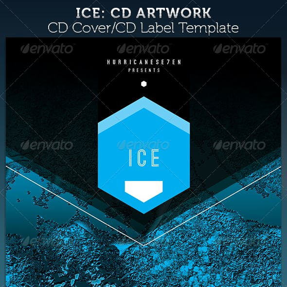 ICE CD Cover Artwork Template