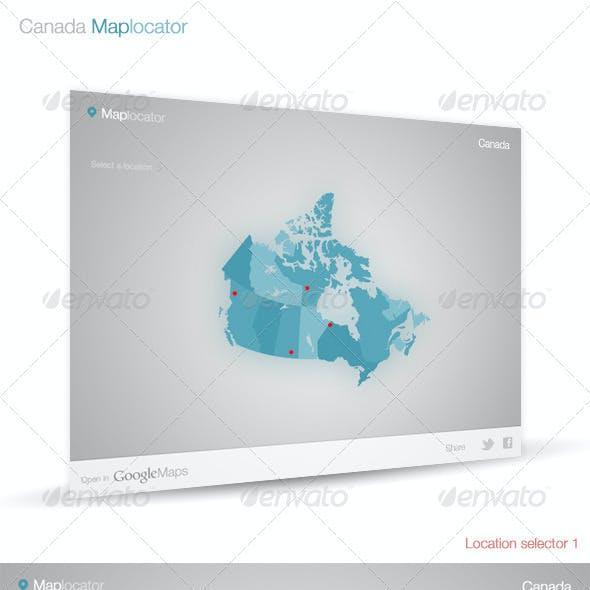 Canada Map Locator