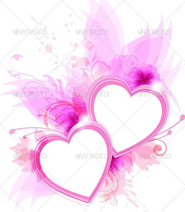 Pink Hearts - Valentines Seasons/Holidays