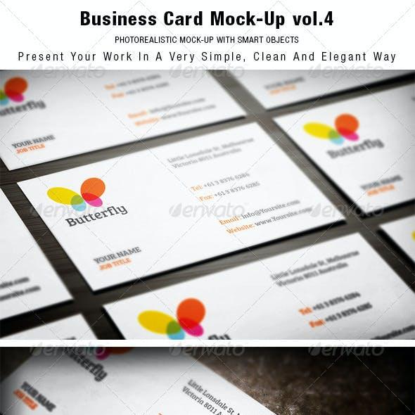 Business Card Mock-up vol.4