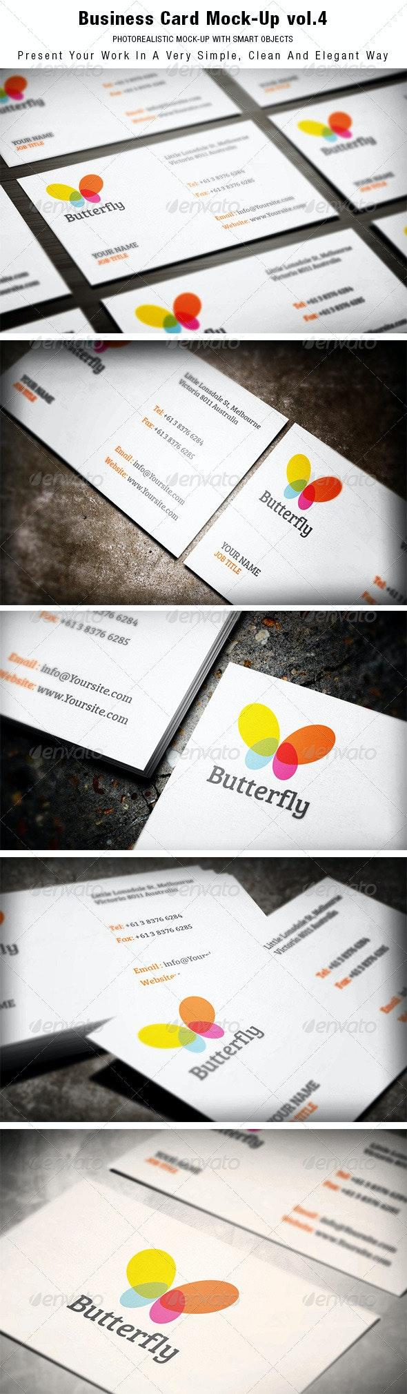 Business Card Mock-up vol.4 - Business Cards Print