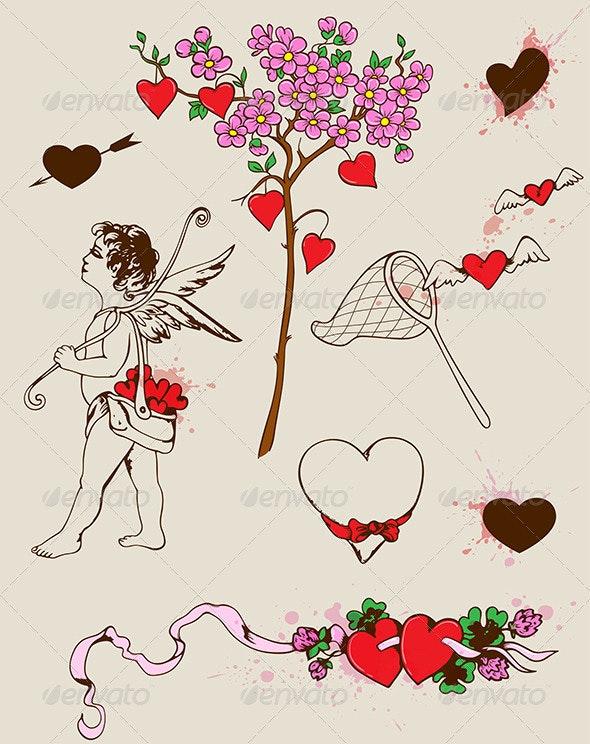 Valentine's Design Elements - Valentines Seasons/Holidays