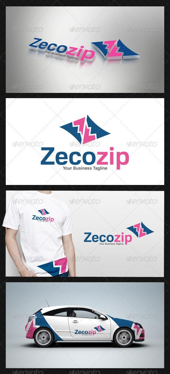 Abstract Zip Logo Template - Vector Abstract