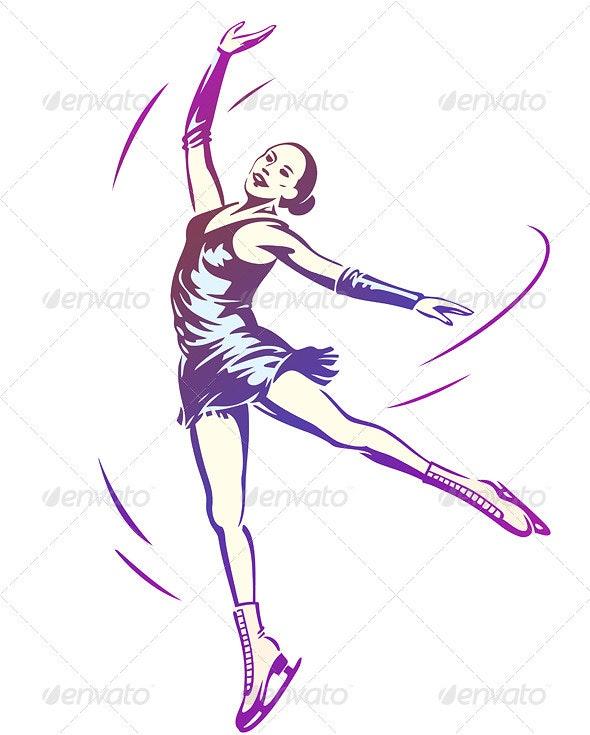 Figure Skating Woman - People Characters