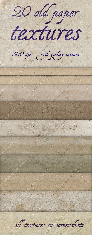 20 Old Paper Textures - Paper Textures