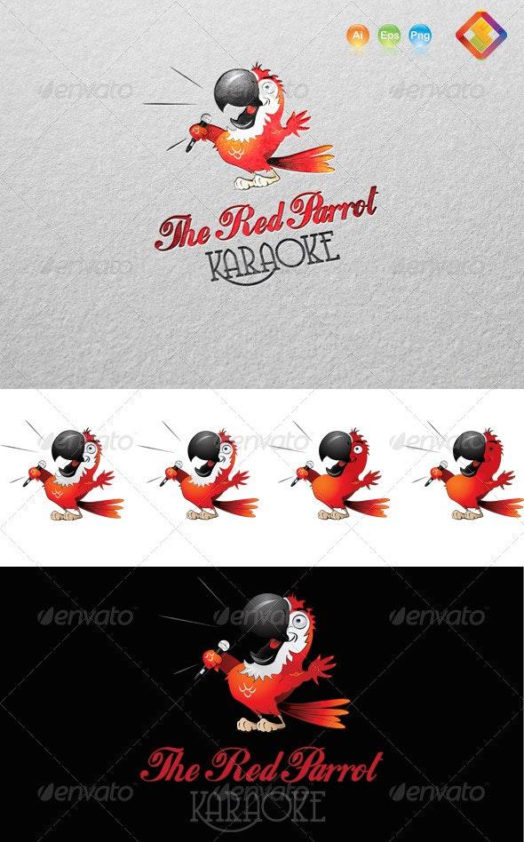 Red Parrot Karaoke Logo - Animals Logo Templates