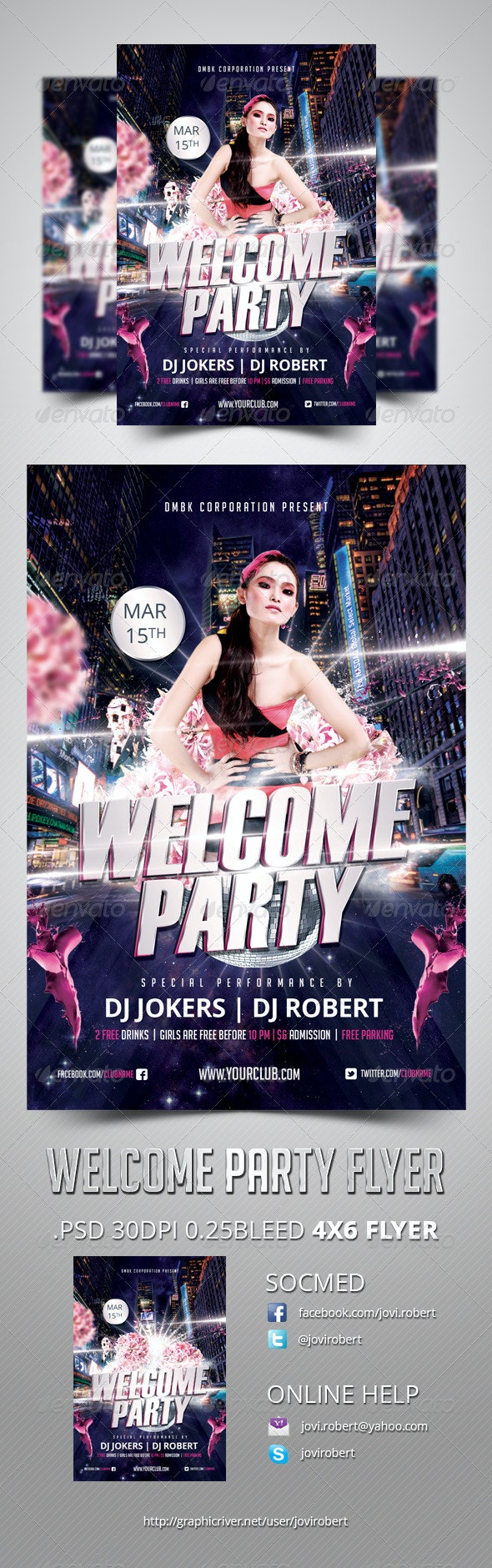 Welcome Party Flyer - Clubs & Parties Events