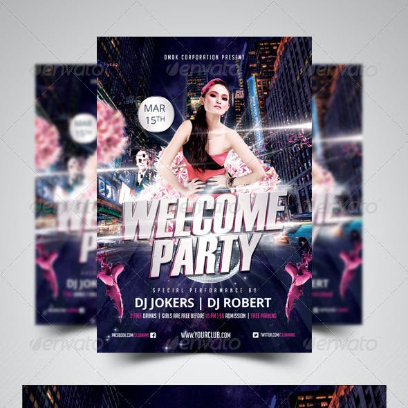 Welcome Party Flyer